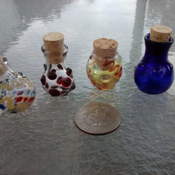 Glass Cache Jars Vials and Bottles